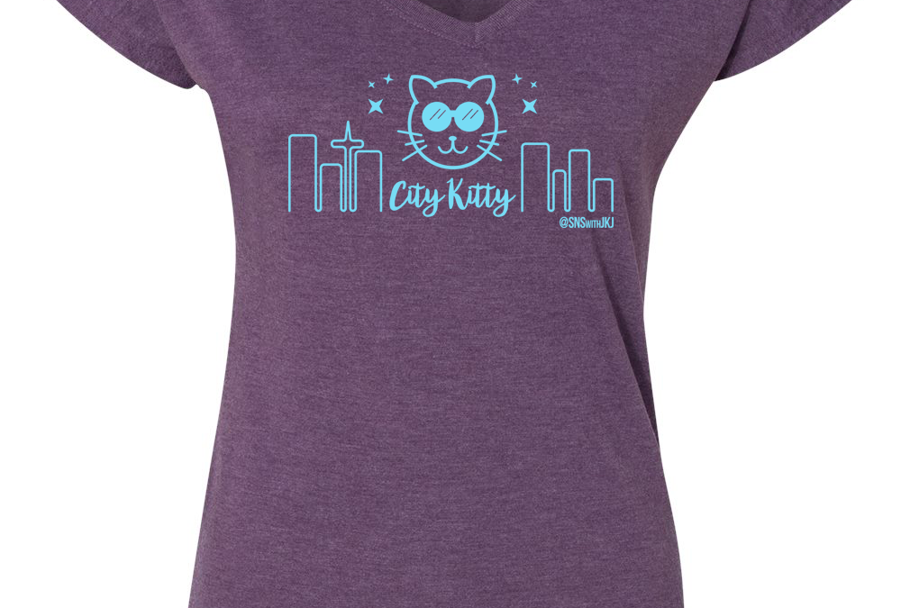 We have City Kitty T-shirts! And they're SO cute!